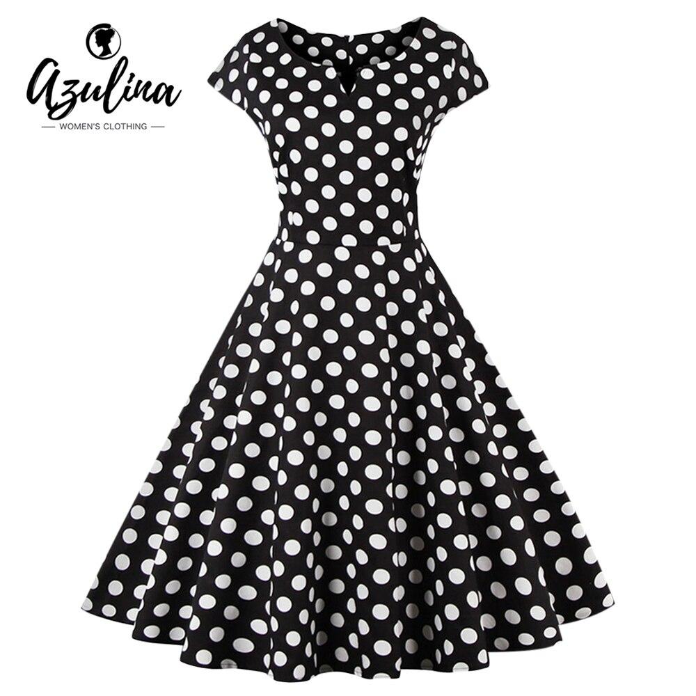 Robe polka à manches courtes pour femme ...