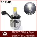 Cheetah free shipping hot sale 3led 9-16v 33w 3000LM super bright A233 H4 led Headlight 3000K 6000K  LED Headlight