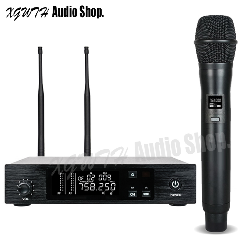 buy uhf wireless microphone system stage performance singing radio cordless. Black Bedroom Furniture Sets. Home Design Ideas
