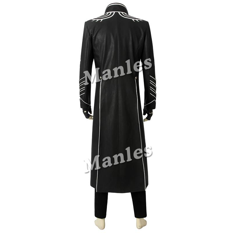 DMC Devil May Cry 3 Dante Jacket Cosplay Costume Coat Pants Halloween Customized