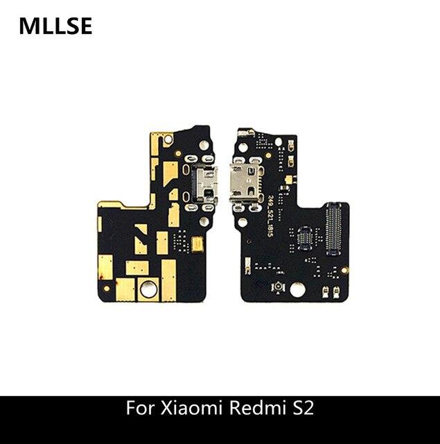 Микро-usb-штекер заряда Порты и разъёмы док-станция для зарядки с гибким кабелем для Xiaomi Redmi S2 плата с микрофоном для ремонта Запчасти