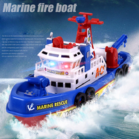 Electronic Boat U S Fire Boat Auto Spray Water Seaport Work Boat Fire Fighting Ship With