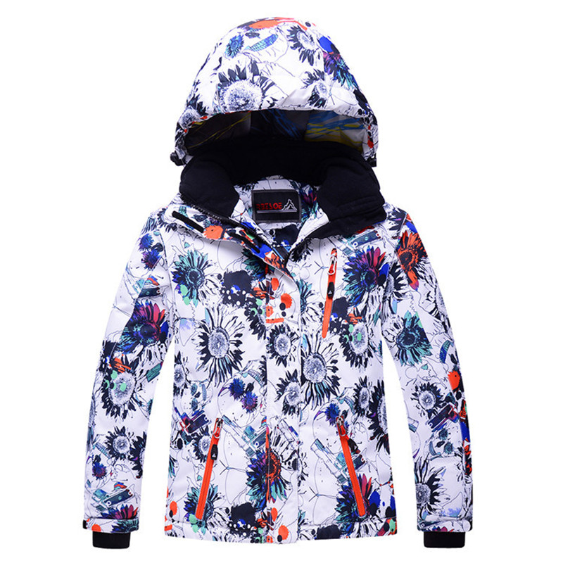 ФОТО New Kids Ski Jacket Windproof Waterproof Outdoor Sport Wear Super Warm Boys Girls Snowboard Jacket Skiing Riding Children Coat