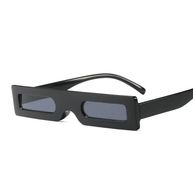 caabe448735d6 Novo pequeno retângulo óculos de sol mulheres retro vintage preto leopard  red retangular óculos de sol
