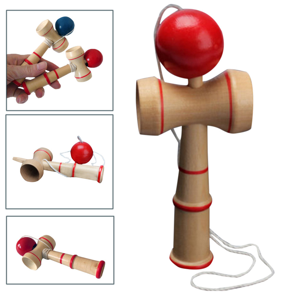 High Quality Kid Kendama Ball Japanese Traditional Wood Game Balance Skill Educational Toy Montessori  Child Kendama Ball