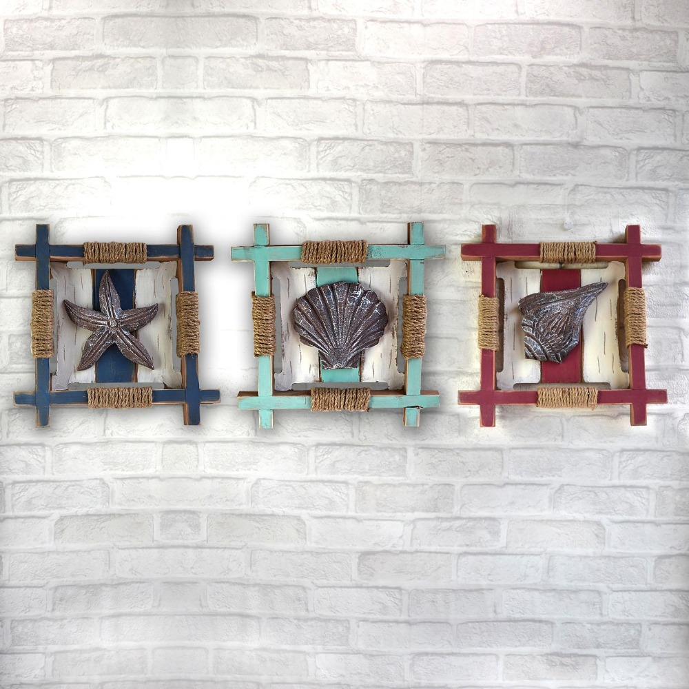Mediterranean primitive miniature wood crafts wood wall ...