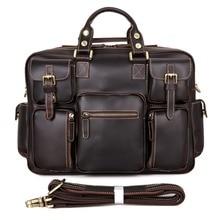 Top Fasion Genuine Leather Chocolate J.M.D Men Handbags Type Travel Shoulder Bags Messenger Bags 7028Q
