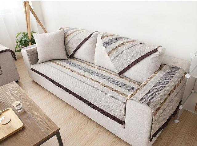 Charmant 70cm Cotton Sofa Towel Sectinal Sofa Cover Slip Resistant Single Seat  Double Seat Three