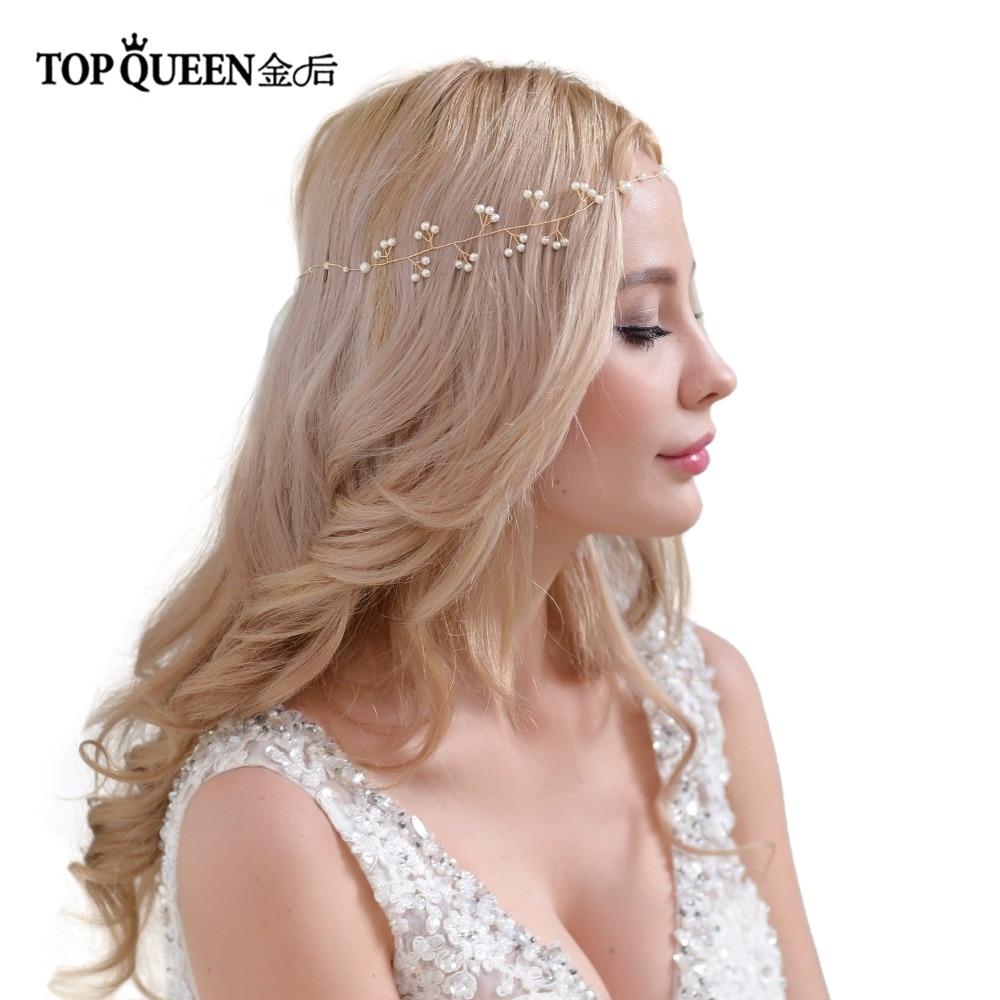 TOPQUEEN Wedding Headband Pearls Beaded Bridal Hairband Tiara Twistedheadband Wedding Hairwear HeadbandWreathHP39