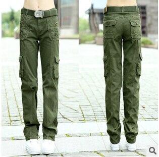 Aliexpress.com : Buy 2015 New dark green cargo pants women High ...