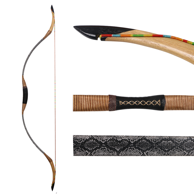 Traditional One-piece Archery 140cm Traditional Wood Bow 30-55 Lbs Fiberglass Bow Limbs High Quality Hunting Bow