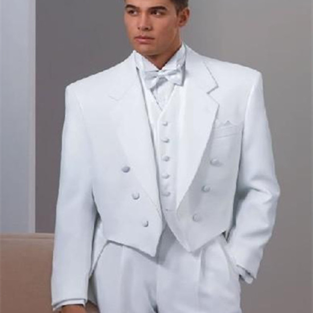 Wedding suits White Tailcoat 2017 prom No Risk Shopping Modern Men ...