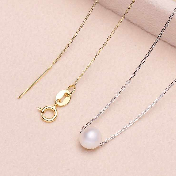 2 Color 925 Sterling Silver Pearl Necklace Chain Pendant Mountings Necklace Findings Jewelry Parts Fittings Accessories