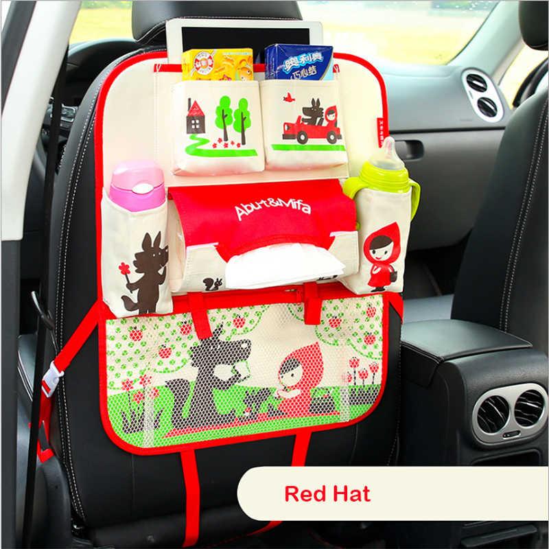 Crianças assento de Carro saco de armazenamento Pendurado sacos de assento de carro de volta saco de assento de segurança Do Carro da criança do carro steat volta saco Multifuncional caixa de armazenamento