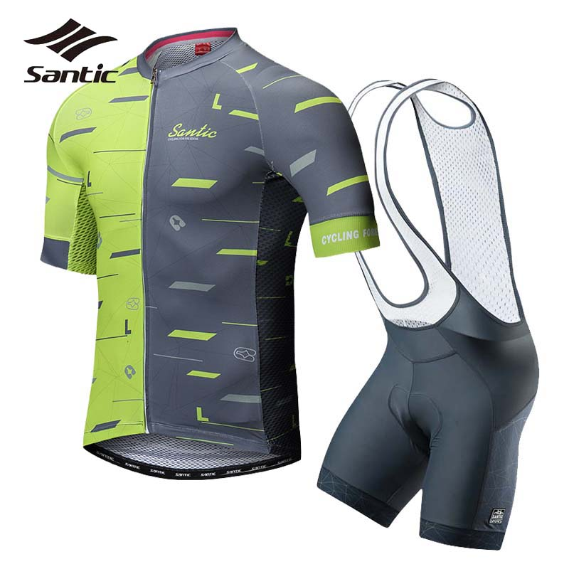 Santic Summer Cycling Clothing Men Cycling Jersey 2018 Pro Team Short Sleeve Sets Kit Road MTB Bike Jersey Set Bicycle Clothes 2017 cycling bicycle sports sets cool men cycling sets summer pro short sleeve cycling sets blue and white bike wear