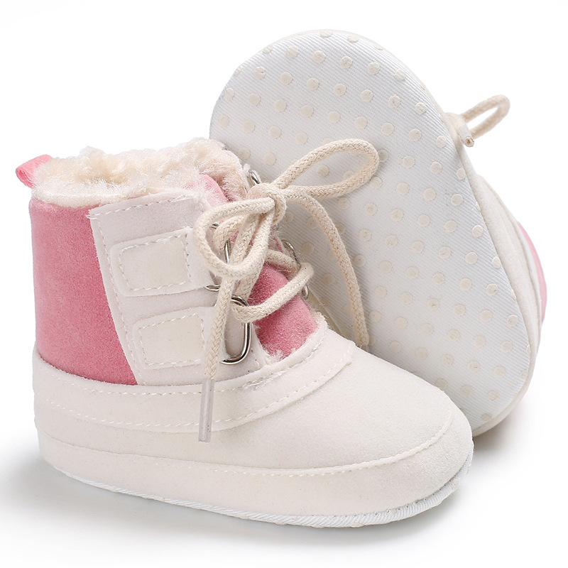 Raise Young Flock Winter Plus Velvet Warm Baby Snow Boots Soft Soles Non-slip Toddler Girl Booties Newborn Infant Boy Shoes