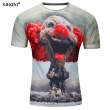 Hombres moda 3D animales creativo camiseta relámpago humo  León lagarto gotas de agua 3D impreso manga corta hombres camisetas ed27c3bc542f2