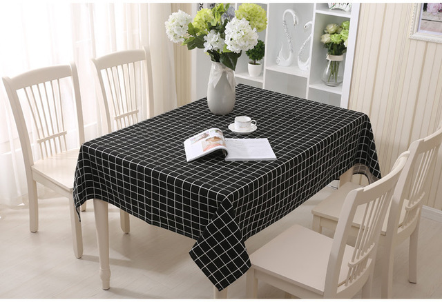2018 Plaid Lattice Party Table Cover Cloth Tablecloth Yarn Dyed