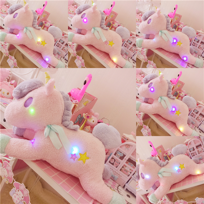 Dream pink plush unicorn pillow Night pillow bluetooth audio horse doll plush toy cute girl gift toy for children cute penis plush toys creative funny fun dildo pillow doll sexy plush toy gift for adult plush toy
