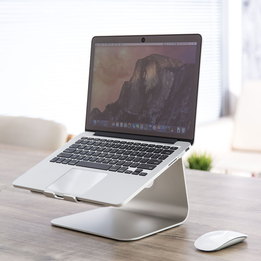 Aluminum Alloy Laptop Cooling Holder Desktop Ergonomics Heighten Notebook Support for MacBook Air Pro Stand plywood