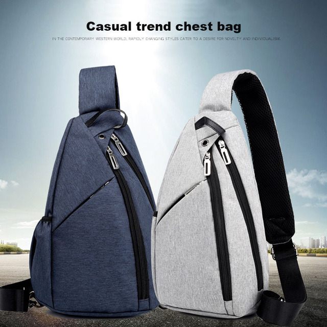 Universal Adjustable Portable Sling Chest Backpack Bags and Wallets Unisex color: Black Color|Blue Color|Dark Gray|light gray