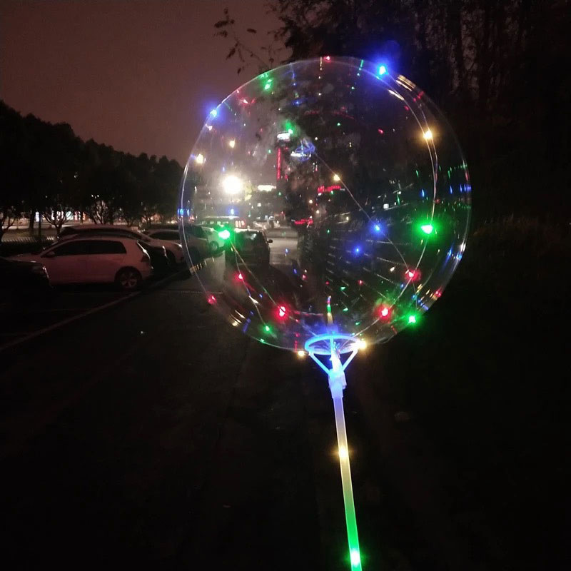 10PCS creative LED Air Balloon Lights Flasher wave Ball Helium Balloons Toy lamp Wedding Party celebrate Decoration Light