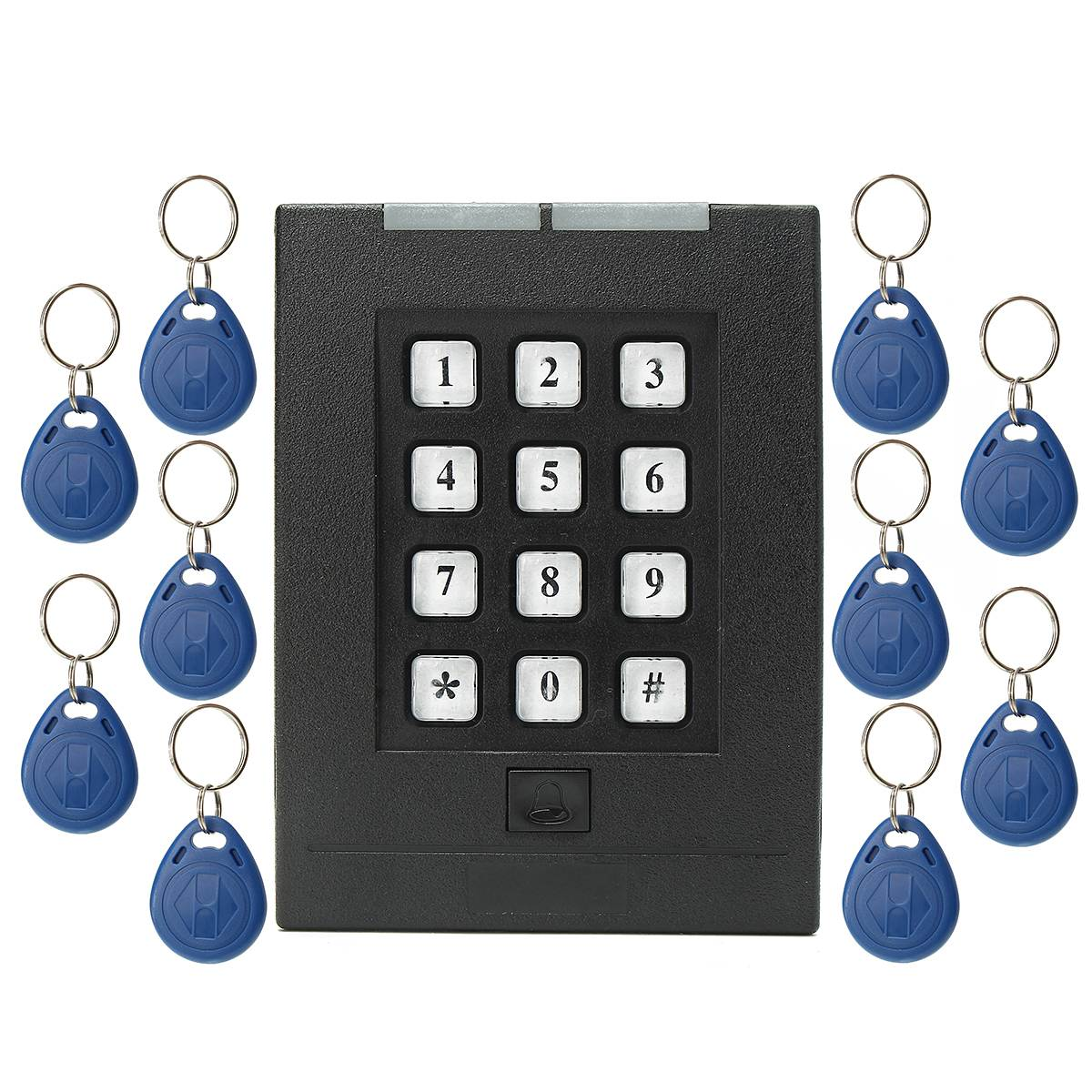 NEW Safurance Home Security Electronic Door Access Control Keypad Password Code Lock +10 RFID ID Card Keyfob ned high security electronic induction smart digit code keypad entry door lock with id reader right handle and card unlock
