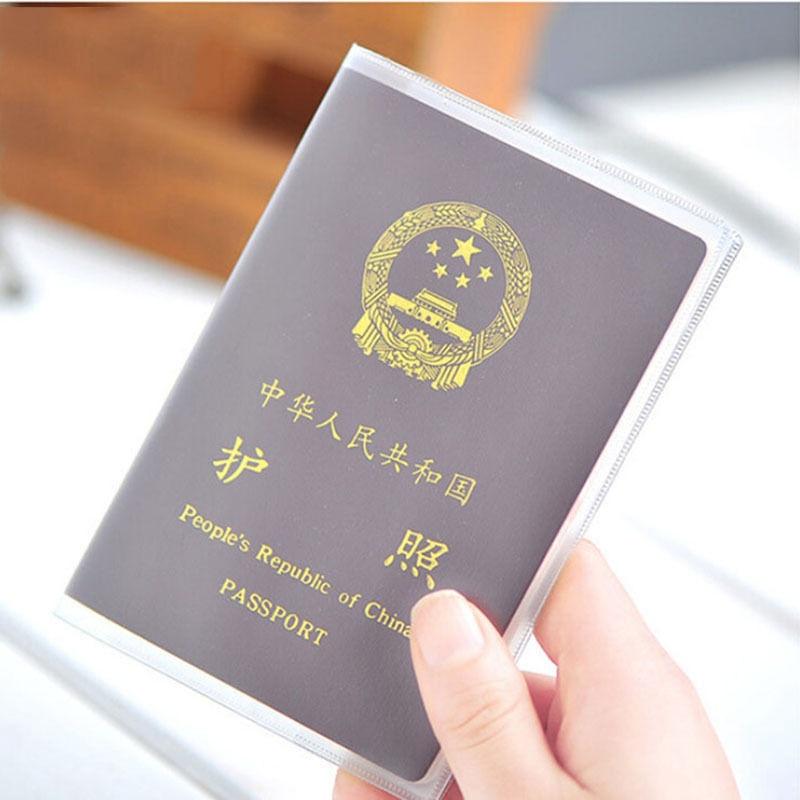 1pc Waterproof PVC Passport CoverTransparent ID Card Holders Storage Bank/Business/Credit Card Holder Travel Office Organizer