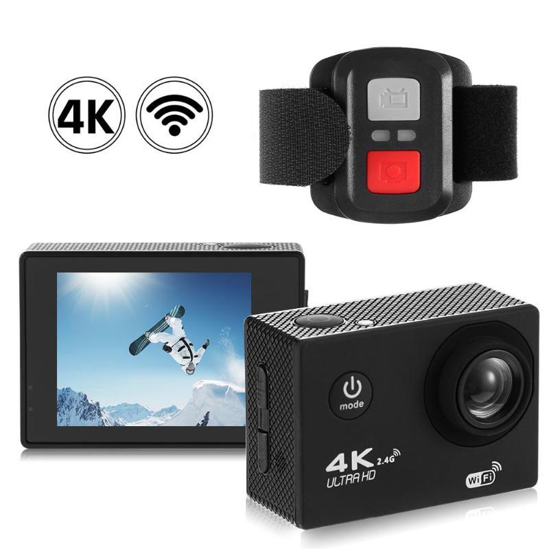 F60R 4K WIFI Action Kamera 1080P HD 16MP Helm Cam 30m Wasserdichte 170 Grad Weitwinkel Objektiv DV mit Fernbedienung Förderung