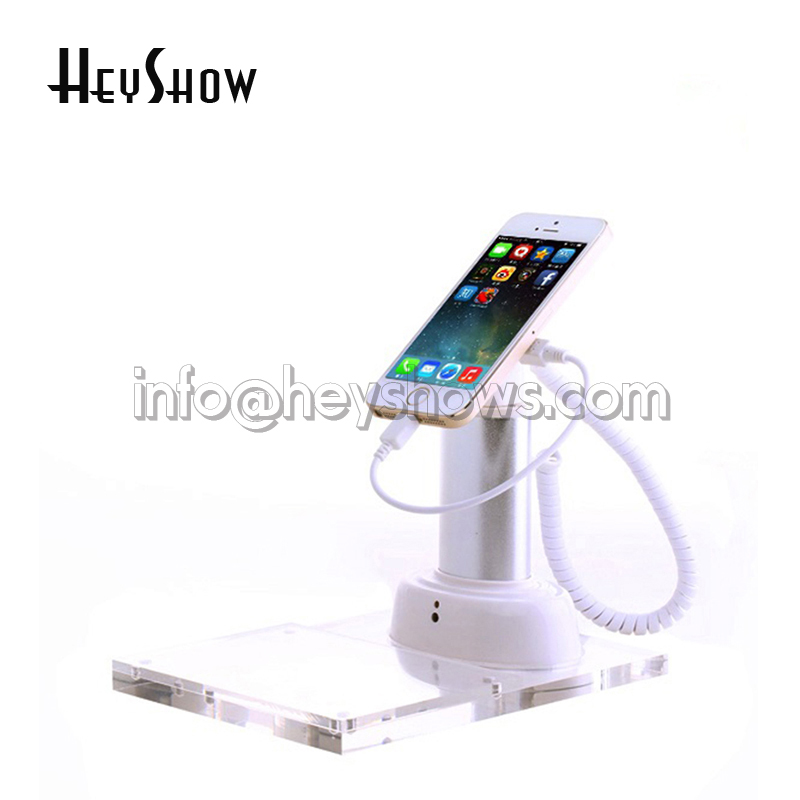 все цены на 10x Mobile Phone Security Display Stand Anti Theft For iphone Burglar Alarm With Acrylic Price Tag Holder Charging For Cellphone