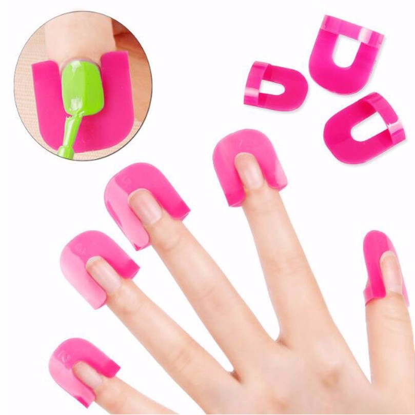 Bittb 10pcs Nail Polish Remover Cover Aid Clip Nail Gel Remover Wrap