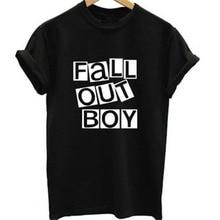 3131dbbc0 Fall Out Boy Funny Letter T-Shirt Feminina Fashion Summer 2017 Women&Men T  Shirt Homme Rock Band Printed Tshirt Graphic Tops Tee