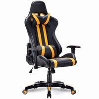 Giantex высокий задний Исполнительный гоночный стиль игровой стул офисный компьютер кресло современный Offfice мебель HW55211YE