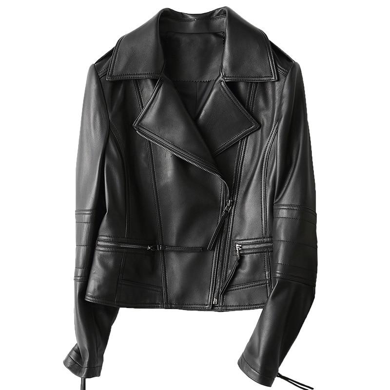 Pelle Black Tasca Pecora Lampo Slim In Cappotti Le Delle Per Signore v8mNw0n