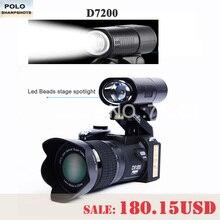 Protax D7200 цифровых камер 33MP профессиональных камер DSLR 24X телеобъективы Объектив & 8X цифровой зум Широкий формат объектив СВЕТОДИОДНЫЙ прожектор