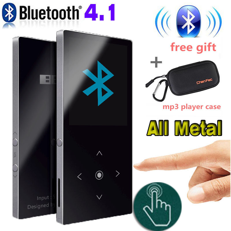Bluetooth4.1 mp3 music player Original BENJIE K8 Touch Key 8GB Lossless HiFi Sound with FM Radio, Recorder+ mp3 player case