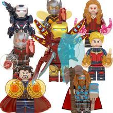 Avengers Doctor Strange Thor Ant Man Scarlet Witch Iron Man Captain Marvel War Machine Building Blocks Toys for Children WM6063