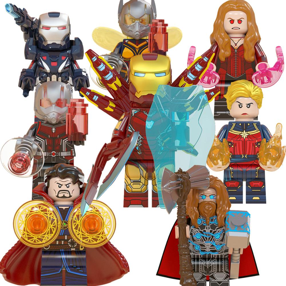 Avengers Doctor Strange Thor Ant Man Scarlet Witch Iron Man Captain Marvel War Machine Building Blocks Toys For Children WM6063