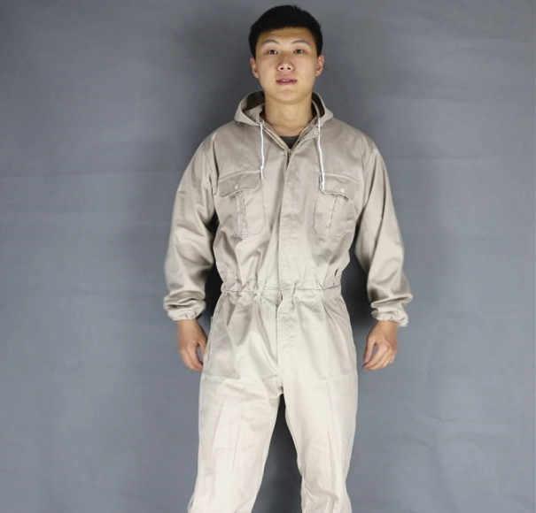 Plus größe Männer Mit Kapuze Overalls Männlichen Arbeit Tragen uniformen Arbeiter Werker Maschine Auto Reparatur overall hosen Sängerin kostüme 060903