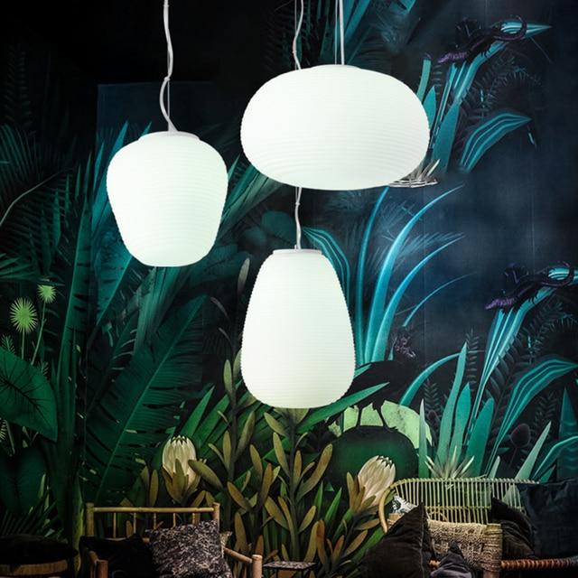 220V 110V Modern Nordic Design Glass Bubble Hanging Pendant Lamp Light for Loft Decor Kitchen Dining Room Living Room Bedroom