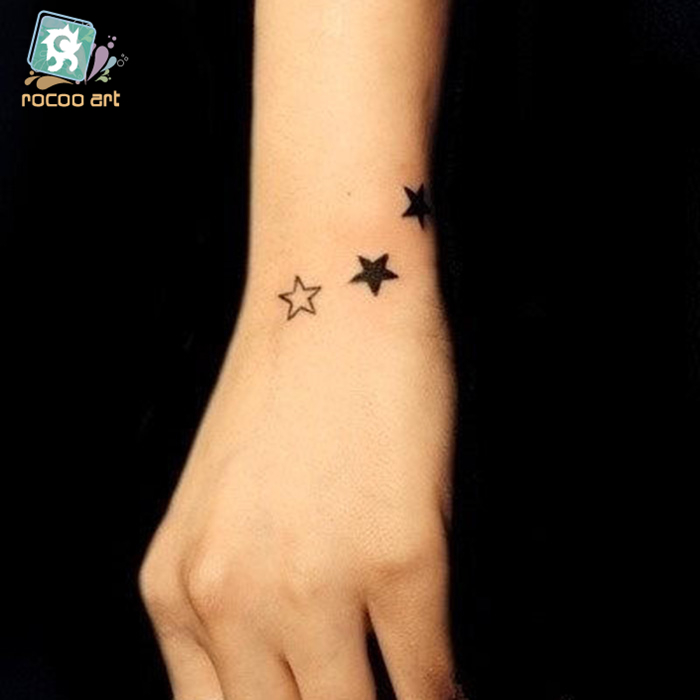 Mixed 25 Classical Small Tattoo Designs Arabic numerals Tower Butterfly Tatoo Waterproof Fake Body Temporary Tattoos Sticker in Temporary Tattoos from Beauty Health