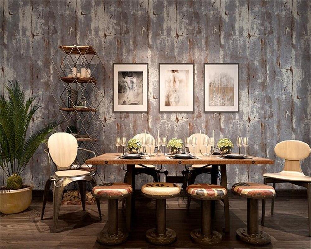 Beibehang couleur Pure chiné rétro vieux papier peint gris style américain salon chambre haut profil épais papier peint nonwovens