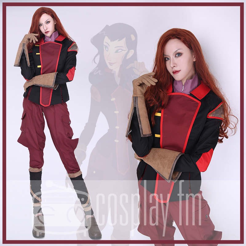 Asami Sato Cosplay Costume Uniform Top Pants