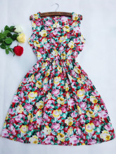 Women Casual Floral Sleeceless Vest