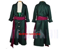 Anime One Piece Roronoa Zoro Cosplay Costumes Halloween Costume For Men Uniform Any Size For Party
