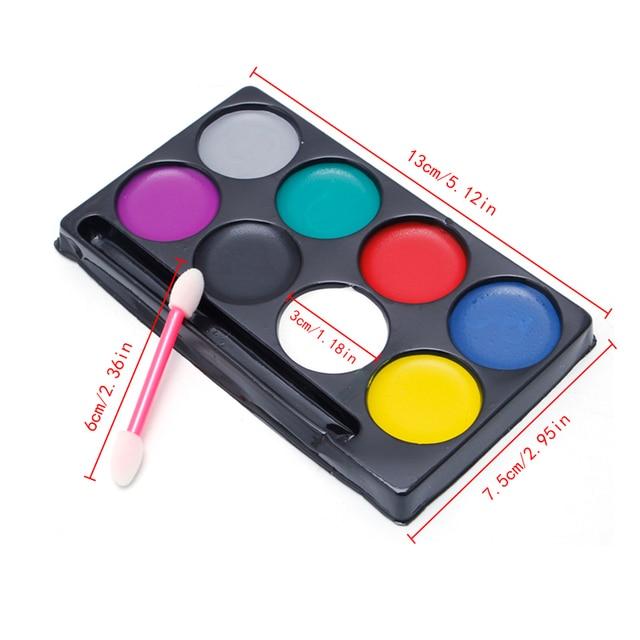 8 colors body face paint kit art makeup painting pigment fancy dress