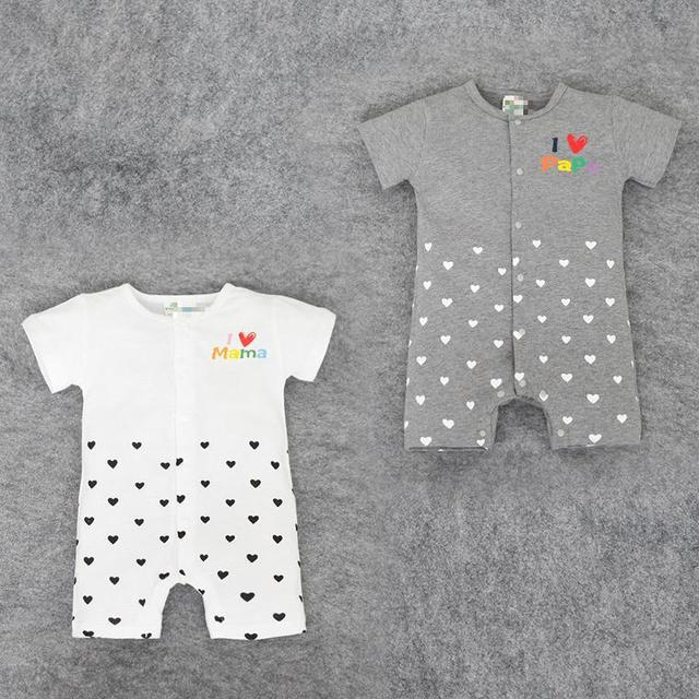 f57c4cbb9ab4 Short Sleeved Love Mom Dad Cotton Boxer Romper Affordable Baby Clothes Cute  Newborn Baby Rompers Lovely Costume For Kids Unisex