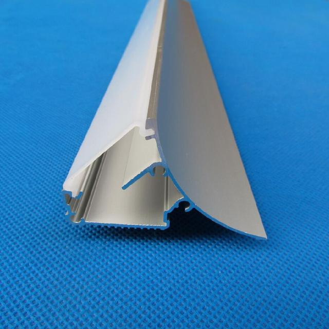 Бесплатная доставка Milky/прозрачная крышка OEM ODM настенный анодированный прессованный алюминий Профиль для светодиодного освещения для поло...