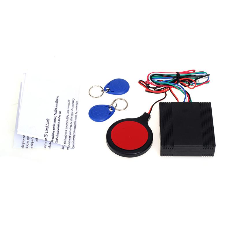 Motorcycle Motorbike ID Card Alarm Induction Invisible Lock Security Safety Anti-theft