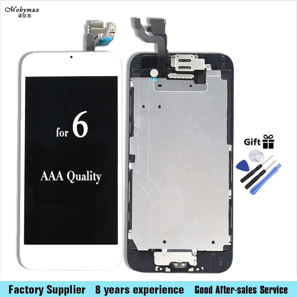 For iPhone 6 6plus 6S Full LCD Screen Display 3D Touch Digitizer Assembly with speaker+camera+sensor flex full+home button+tools